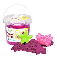 Набор для детского творчества  GENIO KIDS Умный песок 1, розовый (SSR101)