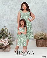 Платье детское летнее дочка мама ( отдельно и комплектом)