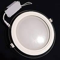 LED-cветильник круг Luxel (стекло) 18w 4000K IP20 (DLRG-18N)