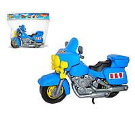 """Игрушка для мальчика Polesie мотоцикл полицейский """"Харлей"""", синий"""