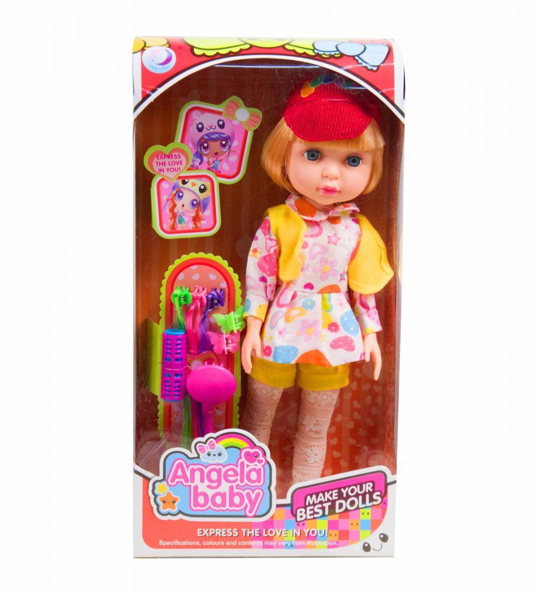 Кукла  Angela Baby  (в платье в цветочек)
