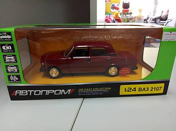 Машина ВАЗ -2707 бордовая Автопром