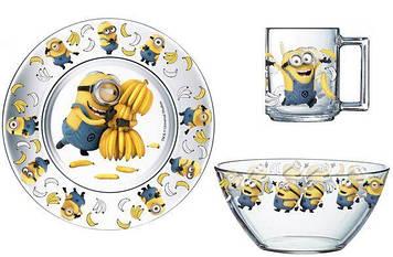 Набор детской посуды Миньоны