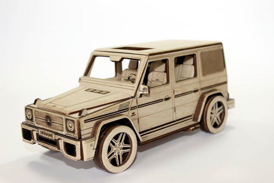 Конструктор деревянный  автомобиль Гелик Mersedes G-Class Gelandewagen