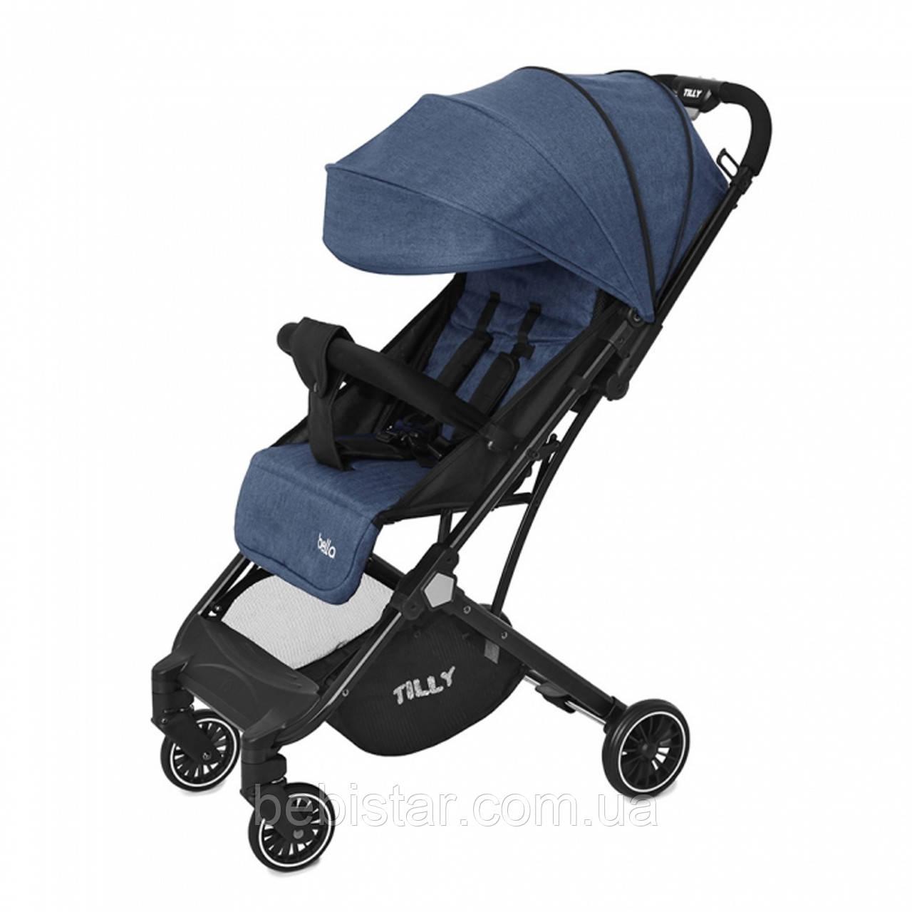 Детская прогулочная коляска синяя Tilly Bella чехол на ножки сумка москитная сетка дождевик от 6 до 36 месяцев