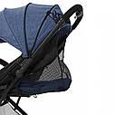 Детская прогулочная коляска синяя Tilly Bella чехол на ножки сумка москитная сетка дождевик от 6 до 36 месяцев, фото 6