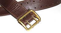 Ремень офицерский портупея натур кожа (коричневый)