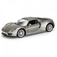 """Машинка детская коллекционная инерционная """"Porsche 918 Spyder"""" Uni-Fortune, серая"""