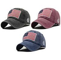 Кепка бейсболка флаг Америка (USA), Унисекс, фото 1