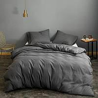 Ткань постельная однотонная Бязь Голд Люкс Серый Графит
