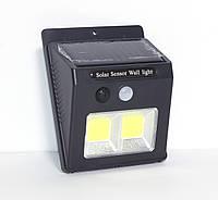 Настенный солнечный светильник с датчиками движения и освещенности. LF-1502.
