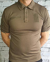 Быстросохнущая футболка поло Coolpass олива с липучками