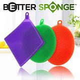Силиконовая мочалка Better Sponge Набор щеток - губок универсальные силиконовые 3 шт, фото 9