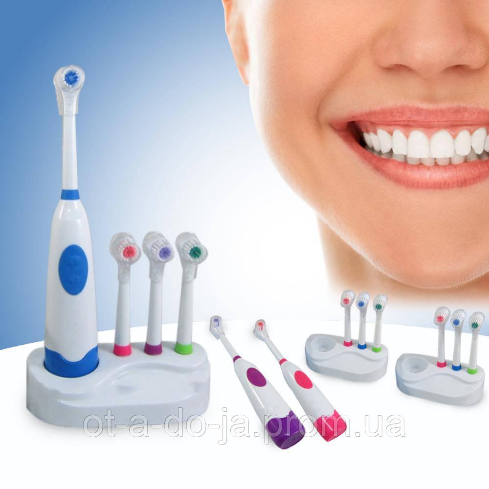 Электрическая зубная щетка с насадками №A101