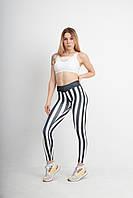 Фитнес лосины Win Option Obeliks Спортивные Леггинсы для спортзала фитнеса и йоги (ВСЕ размеры) Черно-белые