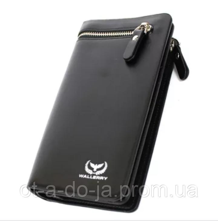 Мужское портмоне, Кошелек Wallerry 618 Черный