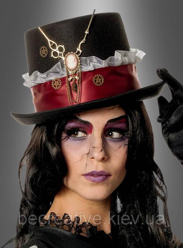 Шляпа-цилиндр в стиле стимпанк для женщин