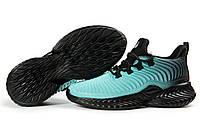 Женские кроссовки в стиле Jomix, текстиль, мятные с черным, 36(23,5 см), в наличии:36,37,38,39,40,41