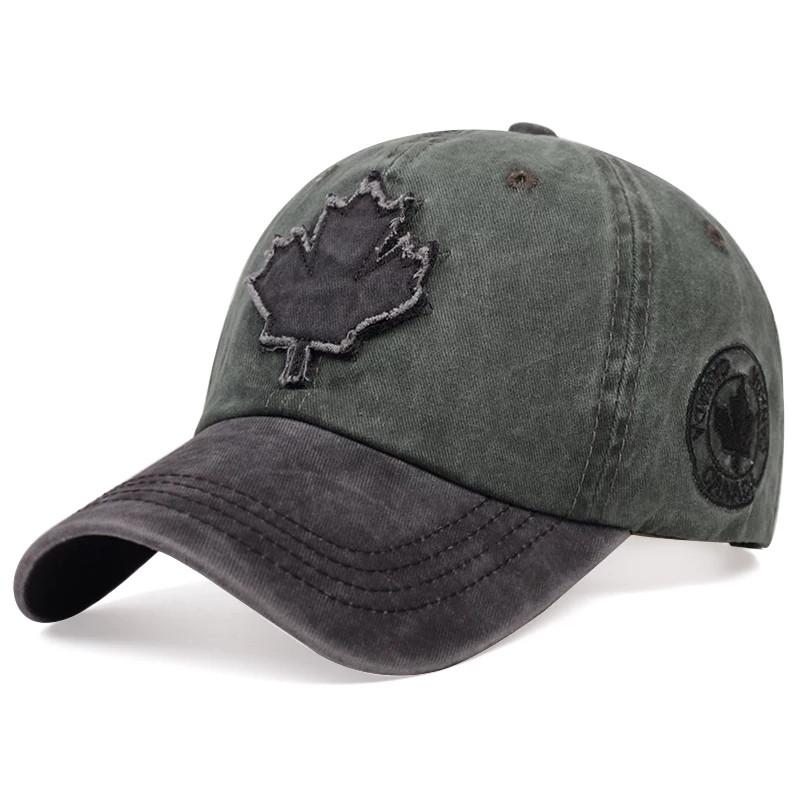Кепка бейсболка Canada (кленовый лист), Унисекс Зеленый