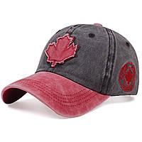 Кепка бейсболка Canada (кленовий лист) Чорна, Унісекс, фото 1