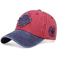 Кепка бейсболка Canada (кленовый лист) Красная, Унисекс, фото 1