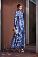 Платье Dolce&Gabbana c принтом Majolica. Люкс качество (M размер)