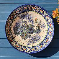 Большая керамическая тарелка ручной работы d 42 см. Узбекистан (31)