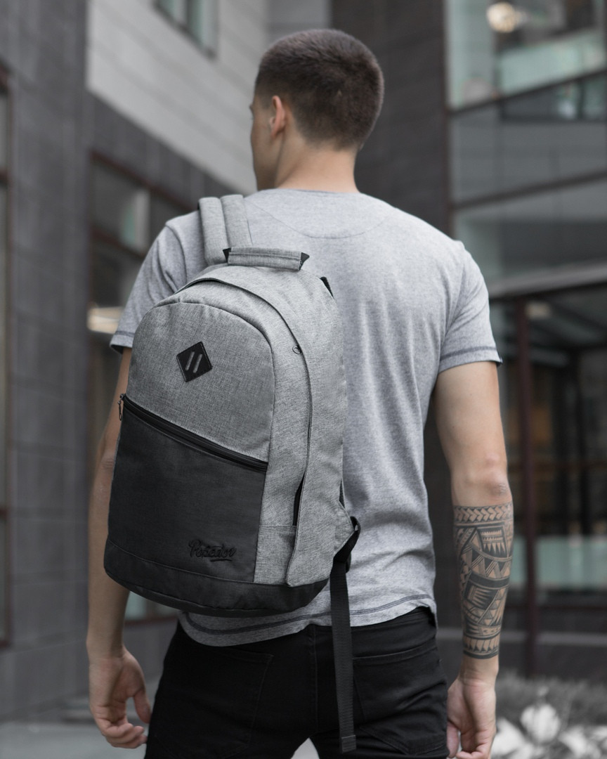Рюкзак «Vsegda s soboy» (черно-серый)