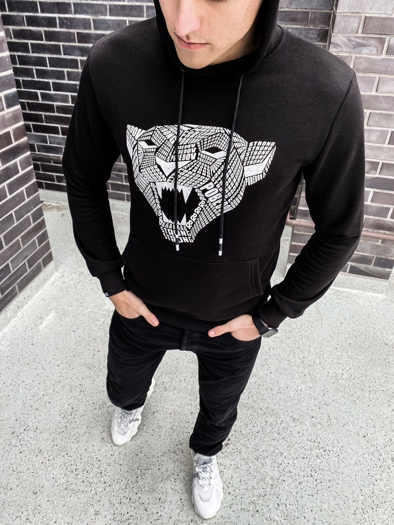 Мужская кофта Strong (черная)