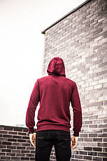 Мужская кофта In'-yan (бордовая), фото 2