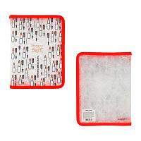 Папка пластиковая А5 Axent beauty на молнии обьемная ВВН 08 красная Бьюти