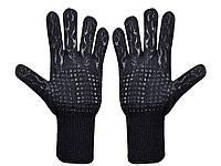 Перчатки 800 градусов термостойкие силиконовые 2 шт. Черный
