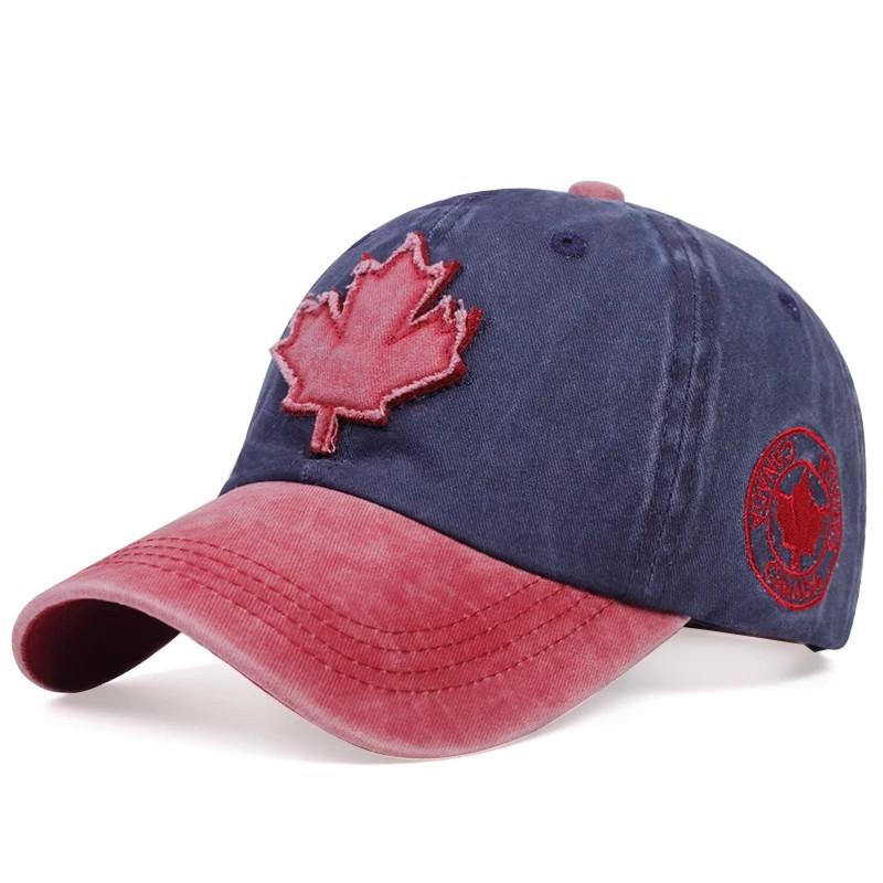 Кепка бейсболка Canada (кленовий лист) Синя, Унісекс