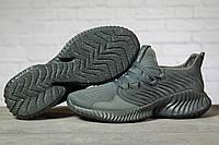 Мужские кроссовки AlphaBounce, текстиль, пена, серые.