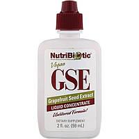Жидкий концентрат GSE, экстракт семян грейпфрута, Grapefruit Seed Extract, NutriBiotic, 59 мл