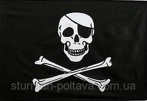 """Прапор """"Веселий Роджер"""".розмір 90х60 см Rotcho США"""
