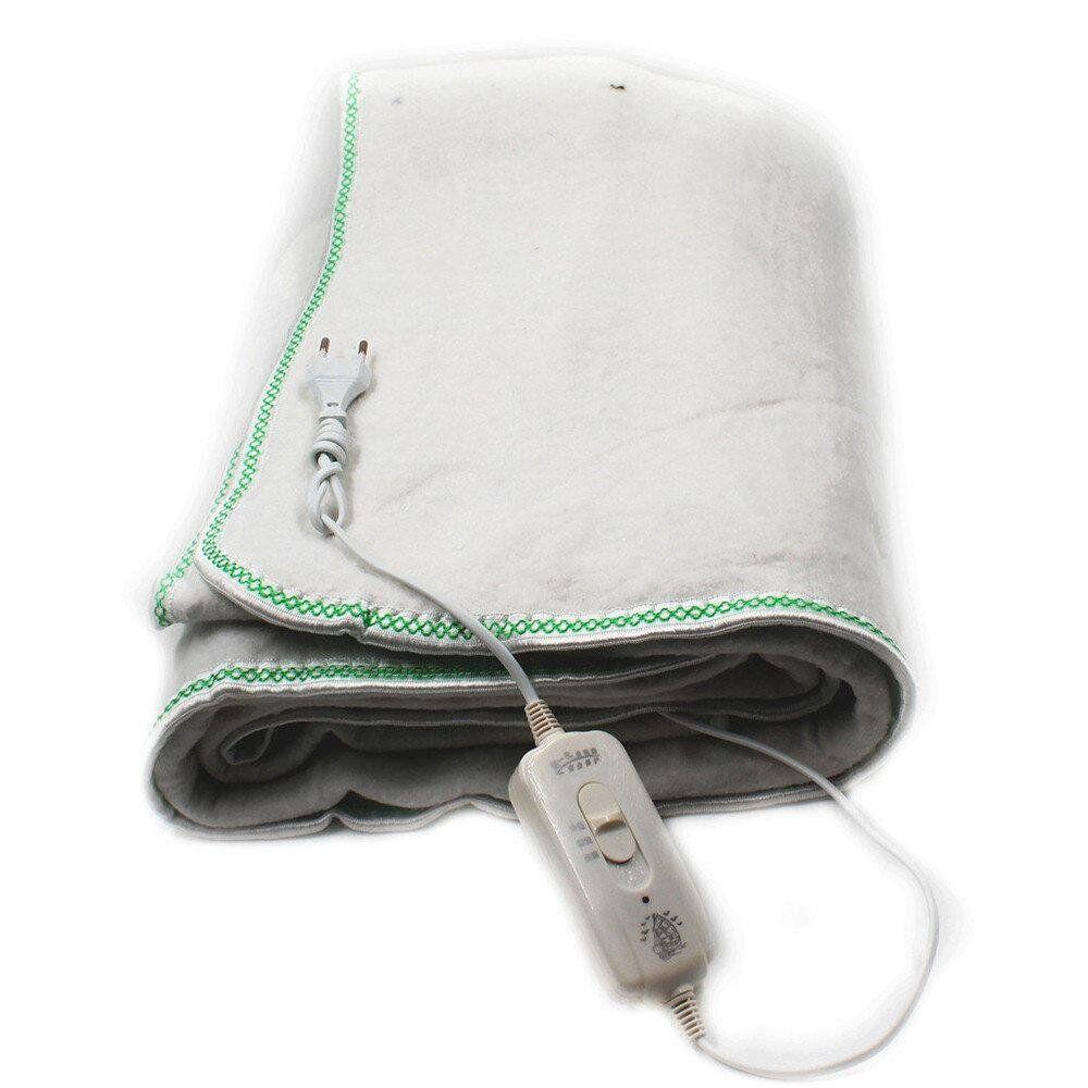 Электропростынь electric blanket 150*120 WHITE, электрическая простынь одеяло с регулятором температуры