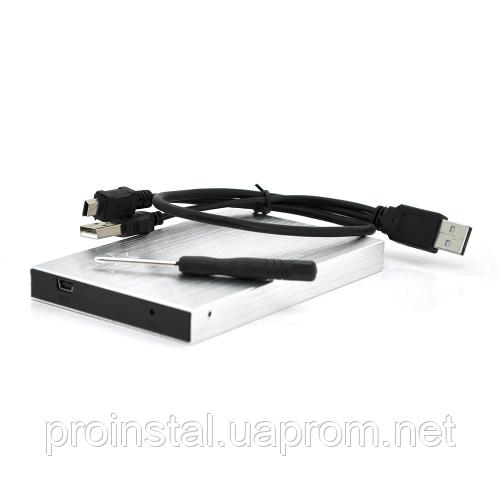 Карман ShuoLe U25E30, 2,5алюминиевый корпус,интерфейс USB2.0 SATA, silver