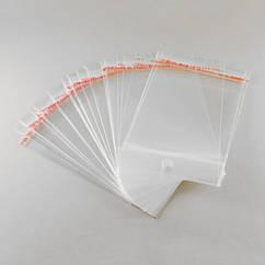 Пакет с Клеевым Клапаном, с подвесом, Прозрачный, Размер: 12x7см, Внутр размер: 7.5x7см, пленка 0.035мм,