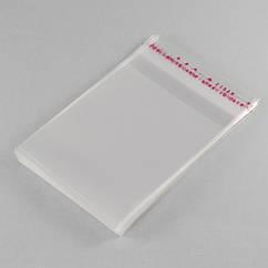 Пакет с Клеевым Клапаном, Прозрачный, Размер: 12x7см, Внутр размер: 9.5x7см, пленка 0.035мм, (УТ100011409)