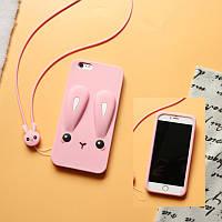 Чехол Funny-Bunny 3D для Iphone SE 2020 Бампер резиновый розовый