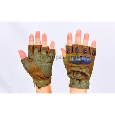 Перчатки Oakley открытые Олива L(р)