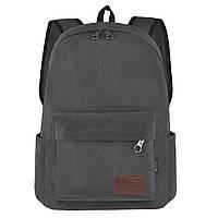 Рюкзак молодёжный BAIYUN 43х30x16 ткань брезент чёрный цвет ксВУ738-6ч