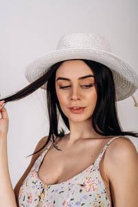 Шляпа канотье Эрика оптом белая