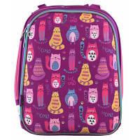 Рюкзак шкільний 1 Вересня каркасний H-12 Cute cats (556024)