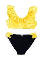 Купальник для девочки Chirks SK0014152 152 см Светло-желтый с черным ()