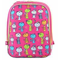 Рюкзак шкільний 1 Вересня каркасний H-12 Kotomaniya rose (554575)