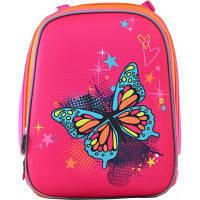 Рюкзак шкільний 1 Вересня каркасний H-12 blue Butterfly (554579)