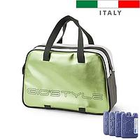 Термосумка Giostyle Silk 25 l зелёная (сумка-холодильник, изотермическая сумка), фото 1