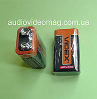 Батарейка VIDEX 6F22 9V вольт, солевая (по типу Крона)